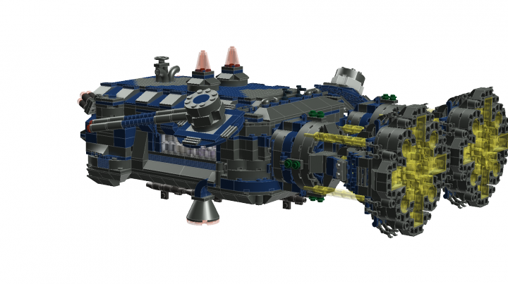 LEGO MOC - In a galaxy far, far away... - General's warship 'Eagle-owl'