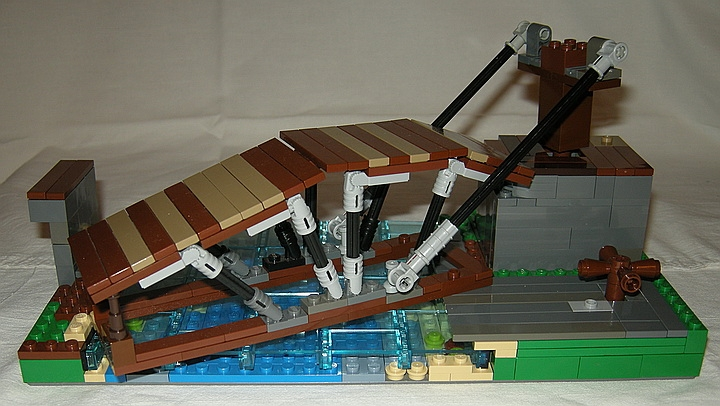 LEGO MOC - Because we can! - Leonardo da Vinci's Revolving Bridge
