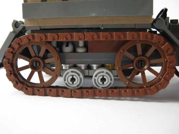 LEGO MOC - Steampunk Machine - Steampunk Halftruck: Устройство гусениц
