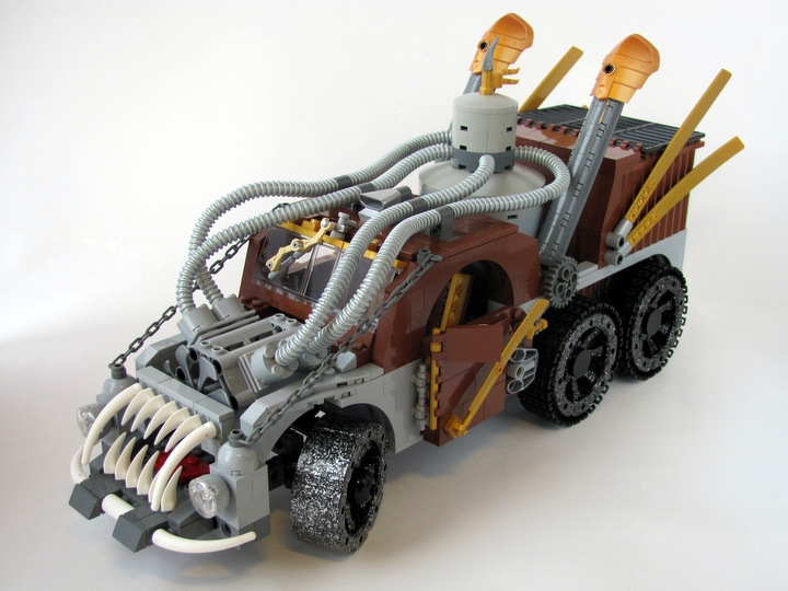 LEGO MOC - Steampunk Machine - Excalibur: <br><i>- Three-axle vehicle of cross-country ability.</i><br>