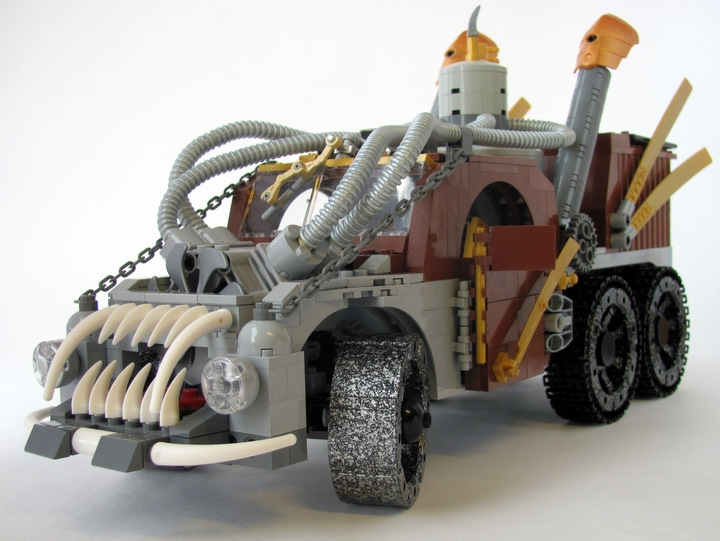 LEGO MOC - Steampunk Machine - Excalibur: <br><i>- Aggressive appearance helps to scare away the bad ghosts & silly pedestrians.</i><br>