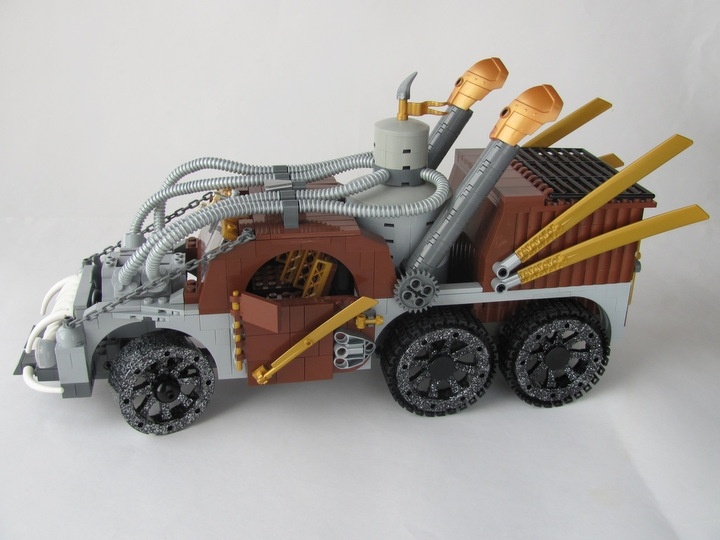 LEGO MOC - Steampunk Machine - Excalibur: <br><i>- Two exhaust pipes helps to control temperature in boiler!</i><br>