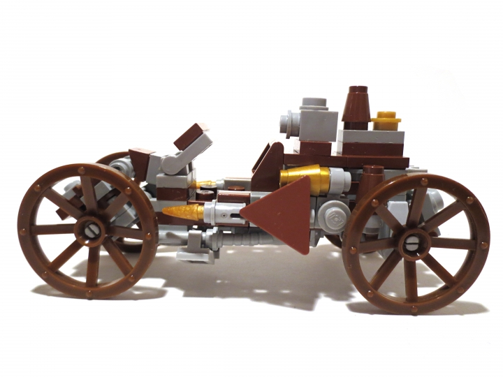 LEGO MOC - Steampunk Machine - Steam Ripper: Вид сбоку