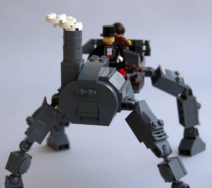 LEGO MOC - Steampunk Machine - Steampunk Walker: Вид сзади.