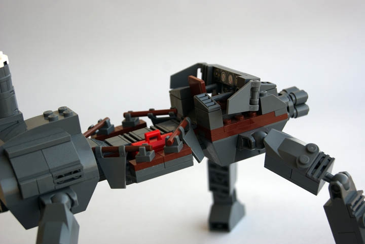 LEGO MOC - Steampunk Machine - Steampunk Walker: Кабина  поближе.