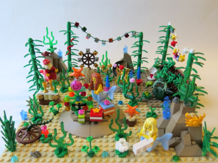 LEGO MOC - New Year's Brick 2014 - Underwater New Year: Общий вид