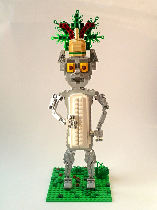 LEGO MOC - 16x16: Animals - Lemur King Julien: Вид спереди