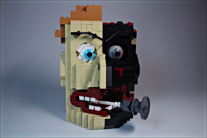 LEGO MOC - 16x16: Character - Two-Face Harvey: С сигарой