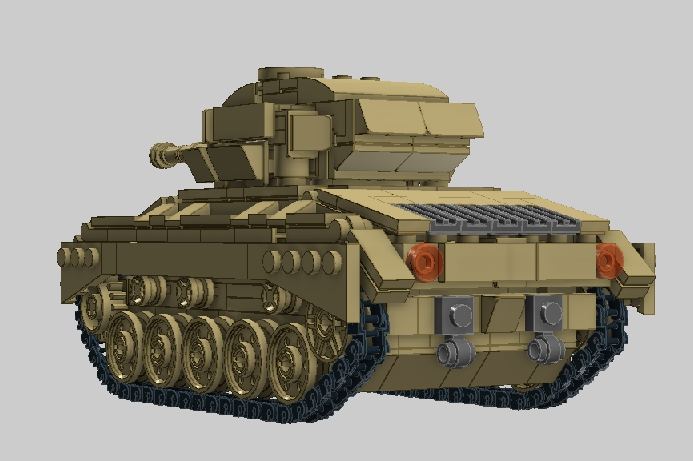 LEGO MOC - LDD-contest '20th-century military equipment‎' - Light Tank M24 'Chaffee'