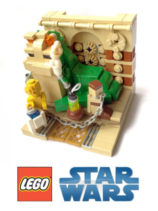LEGO MOC - Battle of the Masters 'In cube' - Jabba the Hutt. Star wars episode VI. Return of the Jedi