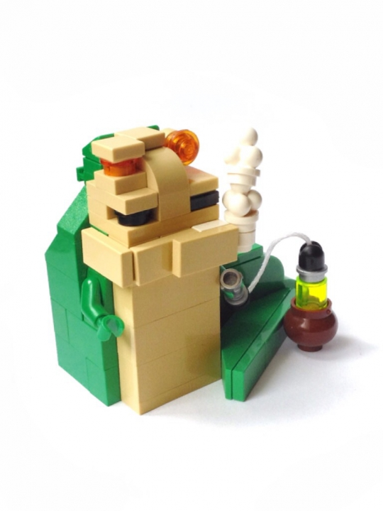 LEGO MOC - Battle of the Masters 'In cube' - Jabba the Hutt. Star wars episode VI. Return of the Jedi : Джабба Хатт