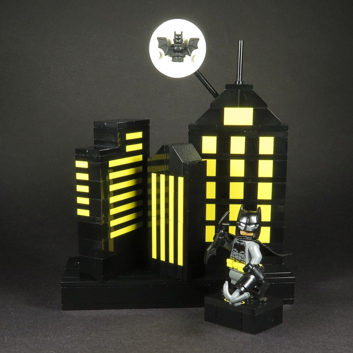 LEGO MOC - 16x16: Batman-80 - Gotham City: Бэтмен на страже Готем-Сити