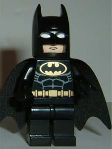Lego Batman Minifig Torso x 1 Black with Pattern for Minifigure