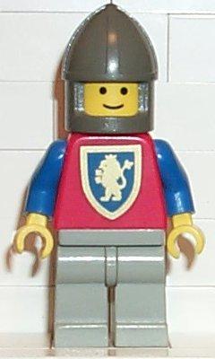 CAS116 LEGO Minifigure CASTLE Crusader Lion Dark Grey Chin-Guard,