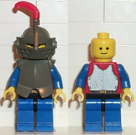 LEGO 1x White Minifigure Plume Dragon Castle Black Knights 6086 cas167