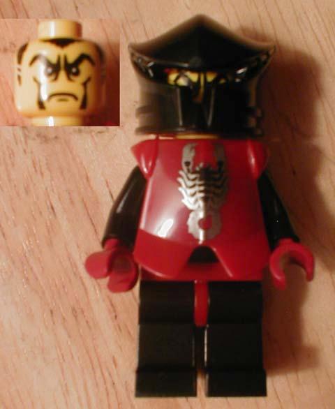 Lego Dark Red Torso Castle Knights Kingdom II with Scorpion Pattern NEW