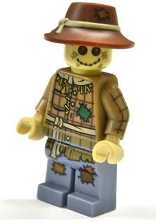 Minifig Wide Floppy Brim with Knotted Tan Band and Patch LEGO Headgear Hat
