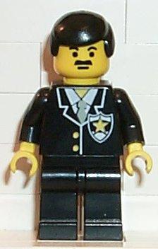 1 x Lego System Torso Upper Body Figure Policeman Classic Town Black Suit 2 BA