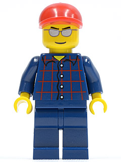 Lego Plaid Button Shirt 3178 cty0163 City Minifigures