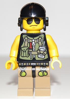 From 5885 Lego Dino Hero Utility Vest dino004 Minifigure Figurine Minifig New