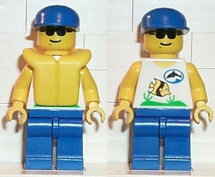 Lego Minifigures Divers Red Diver 2 div018