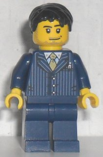 Lego Minifig Torso x 1 Dark Blue Pinstriped Jacket Pattern