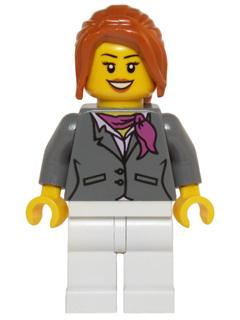 Lego Ponytail Hair with Fringe x 1 Magenta for Minifigure