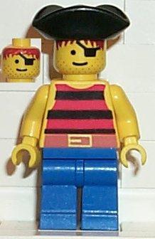 Headgear Hat Minifig Pirate Tricorne // Triangle Black LEGO