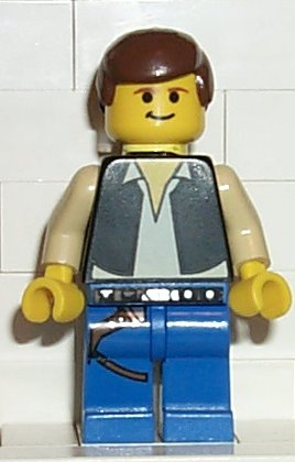 Bricker Lego Minifigure Sw014 Han Solo Blue Legs Falcon