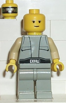 Minifig Lobot with Implant Pattern LEGO Star Wars Head Dual Sided