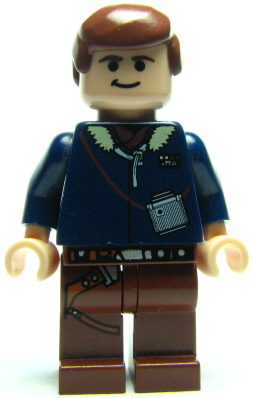 Bricker Lego Minifigure Sw088 Han Solo Reddish Brown