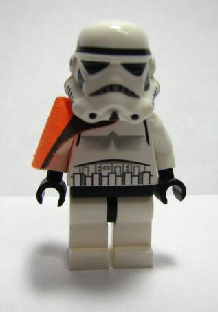 Lego Star Wars Minifig Stormtrooper PLAIN BLACK HEAD EPISODE 4 7659