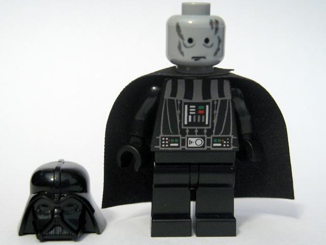 Bricker - LEGO Minifigure - sw218 Darth Vader - Chrome Black