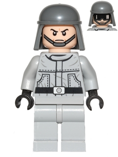 LEGO FLESH MINIFIGURE AT-ST PILOT STAR WARS HEAD WITH GLASSES