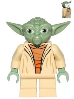Bricker Lego Minifigure Sw446 Yoda Clone Wars White