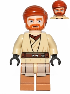 Lego Obi-Wan Head Hair piece from set 75012 for Star Wars Minifigure NEW