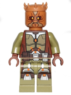 Headgear Head Top SW Zabrak Horns Medium Dark Flesh LEGO Minifig