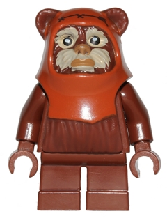 Lego Star Wars Minifigure Wicket Ewok with with Tan Face Paint from 10236