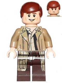 Bricker Lego Minifigure Sw644 Han Solo Endor Outfit
