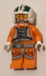 Bricker Lego Minifigure Sw730 Wedge Antilles 75098