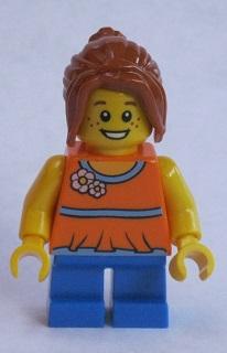 Lego Ponytail Hair with Fringe x 1 Dark Orange for Minifigure