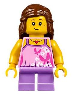 Bricker Lego Minifigure Twn297 Girl Bright Pink Top
