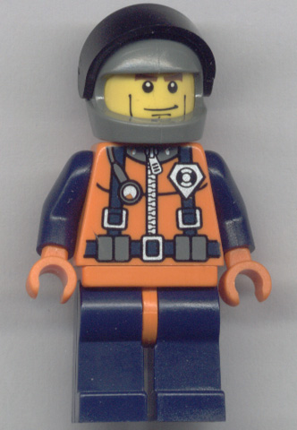 LEGO NEW CONSTRUCTION WORKER ORANGE MINIFIGURE TORSO WITH DARK BLUISH GREY HANDS
