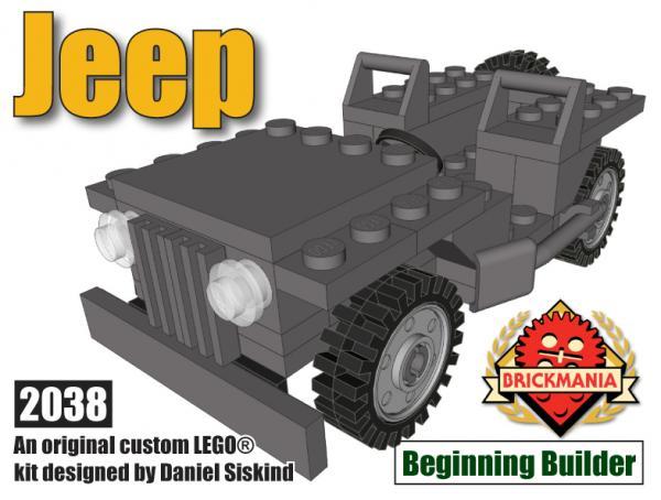Bricker - Construction Toy by Brickmania 238 Beginning Builder Jeep
