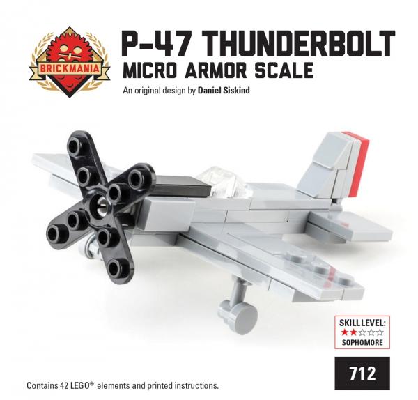 Bricker - Construction Toy by Brickmania 712 Mini-kit: P-47