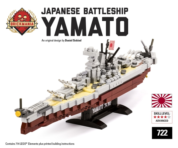 Bricker Construction Toy By Brickmania 722 Battleship Yamato
