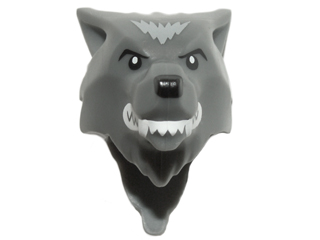 Headgear Mask Wolf with Fangs Minifig LEGO Black