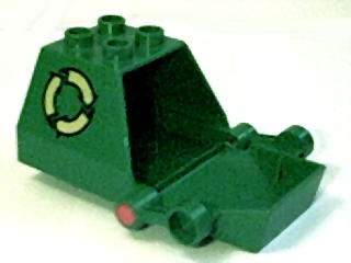lego green garbage truck instructions