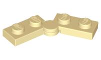 LEGO PART 2429C01 BLUE  1 x 4 HINGE PLATE SWIVEL TOP x 6