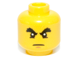 Lego Yellow Minifig Head x 1 Cole Head part number 4611426